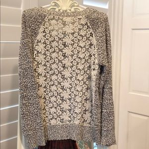 Sweaters - Sweater With Lace back